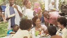 Family at picnic
